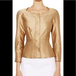 {LK Bennet} Taupe Colored Silk Fitted Jacket
